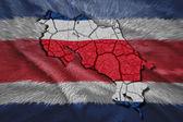 Costa Rican Map — Stock Photo
