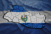 El Salvador Map — Foto de Stock