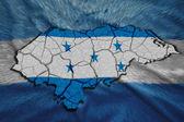 Honduran Map — Stock Photo