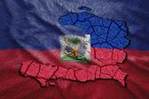 Haitian Map — Stock Photo