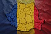 Romanian Map — Stock Photo