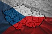 Czech Map — Stock Photo