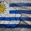 Uruguayan Map — Stock Photo