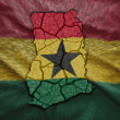 Ghanaian Map — Stock Photo
