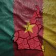 Cameroon Map — Stock Photo