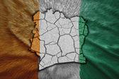 Cote d'Ivoire Map — Stock Photo