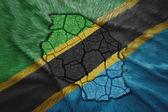 Mapa da tanzânia — Foto Stock