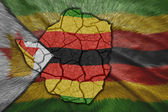 Zimbabwean Map — Stock Photo