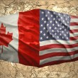 Stock Photo: United States of Americand Canada