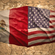 Stock Photo: United States of Americand Mexico