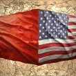 United States of America and China — Stock Photo