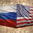 United States of America and Russia — Stock Photo