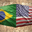 Stock Photo: United States of America and Brazil