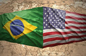 United States of America and Brazil — Stock Photo