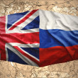 United Kingdom and Russia — Stock Photo