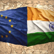 European Union and India — Stock Photo