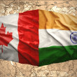 Canada and India — Stock Photo