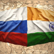 Russia and India — Stock Photo