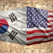 United States of America and South Korea — Stock Photo