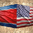 North Korea and United States of America — Stockfoto