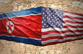 North Korea and United States of America — Stock Photo