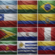Flags of all South American countries, Collage — Stock Photo