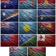 Flags of all Oceania countries, Collage — Stock Photo #37453179