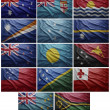 Stock Photo: Flags of all Oceanicountries, Collage