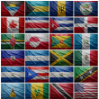 Flags of all North American countries, Collage — Stock Photo