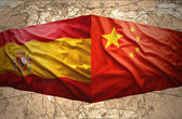 китай и испания — Стоковое фото