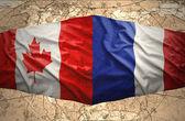 Fransa ve kanada — Stok fotoğraf