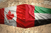 United Arab Emirates and Canada — Stock Photo