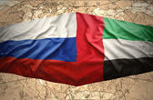 United Arab Emirates and Russia — Stock Photo