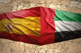 United Arab Emirates and Spain — Stock Photo