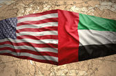 United Arab Emirates and United States of America — Stock Photo