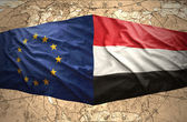 Yemen and European Union — Stock Photo