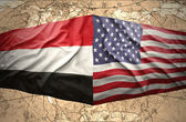 Yemen and United States of America — Stock Photo