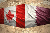 Qatar and Canada — Stock Photo