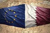 Qatar and European Union — Stock Photo