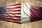 Qatar and United States of America — Stock Photo
