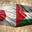 Stock Photo: Palestine and Japan