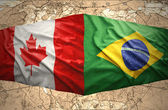Brazil and Canada — Stock Photo