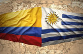 Colombia and Uruguay — Stock Photo