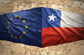 Chile and European Union — 图库照片