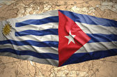 Cuba and Uruguay — 图库照片