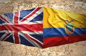Ekvádor a Velká Británie — Stockfoto