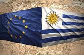 Uruguay and European Union — ストック写真