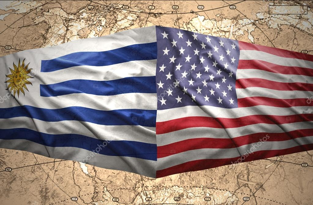 Uruguay and United States of America — Stock Photo ...