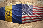 Barbados and United States of America — Stock Photo