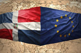 Dominican Republic and European Union — Stock Photo